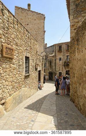 Medieval Street In Girona Village
