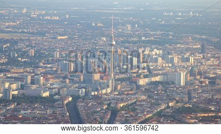 Berlin, Germany - Jul 06th, 2015: Aerial View Of Berlin Capital Of Germany - View From The Airplane