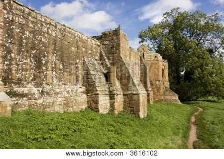 Brick Castle Wall