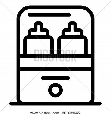Sterillize Bottle Heater Icon. Outline Sterillize Bottle Heater Vector Icon For Web Design Isolated