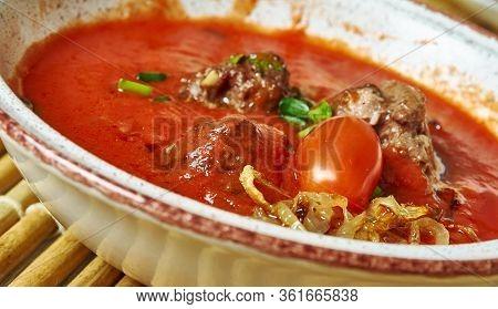 Kurdish Meatball Potato Soup