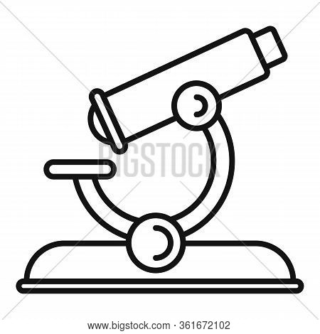 Lesson Microscope Icon. Outline Lesson Microscope Vector Icon For Web Design Isolated On White Backg