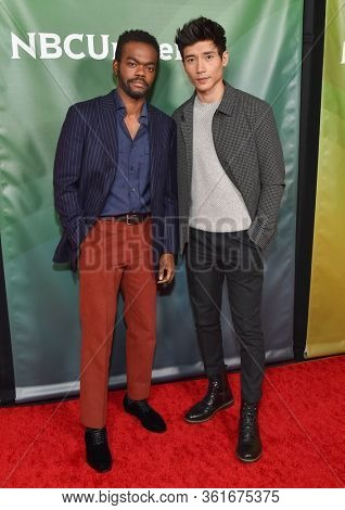 LOS ANGELES - JAN 11:  William Jackson Harper and Manny Jacinto on the red carpet at the NBCUniversal Winter TCA 2020 on January 11, 2020 in Pasadena, CA