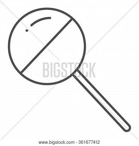 Chupa Chups Thin Line Icon. Sweet Round Lollipop Illustration Isolated On White. Chupa Chups Yummy C