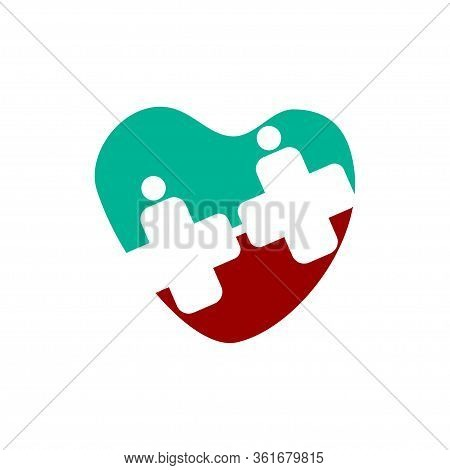 Medical Health Clinic Illustration Logo  Template Vector