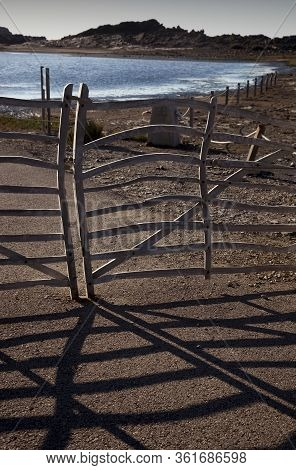 The Menorcan Barriers Are Doors Made Of Olive Wood (ullastre) Used In The Rural Environment Of The I