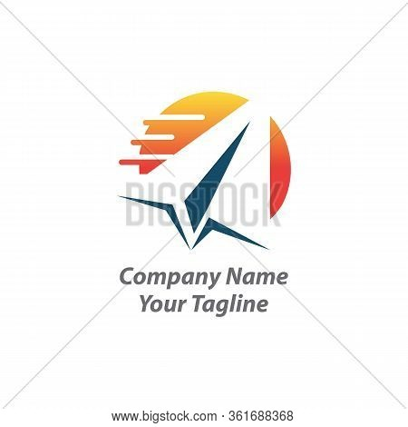 Logo For Logistics And Delivery Company,logistic Company Logo. Arrow Icon. Delivery Icon. Arrow Logo