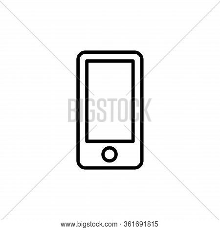 Mobile Phone Icon Vector. Simple Flat Symbol.