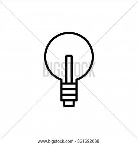Light Bulb Icon. Vector Illustration Line Design Style