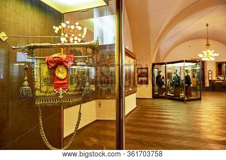Vienna, Austria - September 2018: Exposition In The Arsenal Military Museum