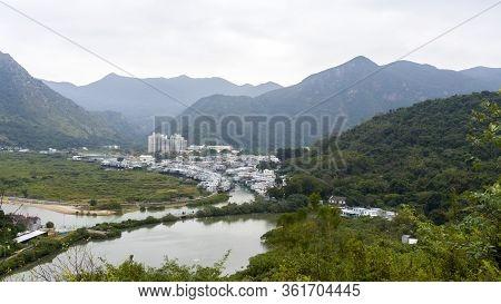 Tai O Village View, Tai O Stilt Houses, Long Shot, Aerial View