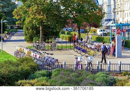 Vienna, Austria - September 2018: Street View In The City Center