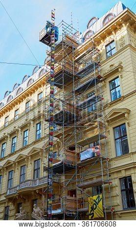 Vienna, Austria - September 2018: Restoration Works In The City Center