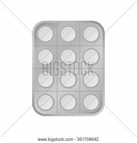 Virus White Pill Tablet Medical Help Icon Vector