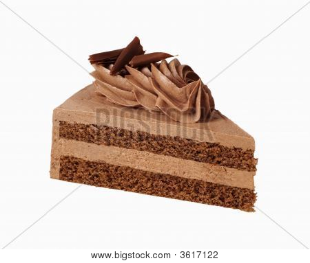 Slice Of Chocolate Cream Cake