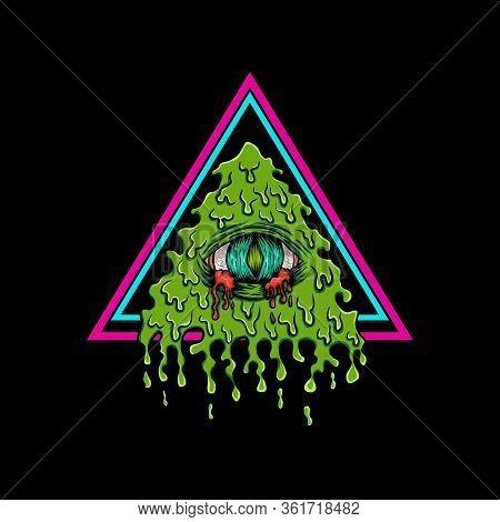 Illuminati Bleeding Vector Illustration For Your Company Or Brand
