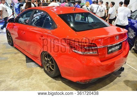 Pasay, Ph - July 28: Toyota Vios At Bumper To Bumper Prime Car Show On July 28, 2019 In Pasay, Phili