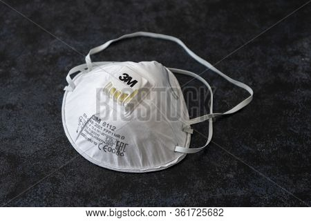 April 14, 2020. Barnaul Russia. Protective Respiratory Mask. Air Filter Mask, 3m Tradmark. Personal