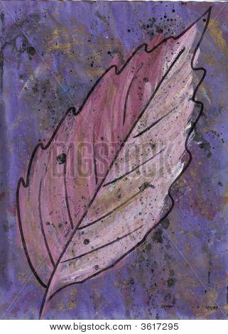 Art Large Pink Leaf