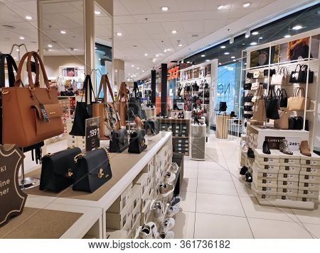 Katowice, Poland - February 15, 2020: Ccc Shoe And Leather Goods Store Shelves In Katowice, Silesia
