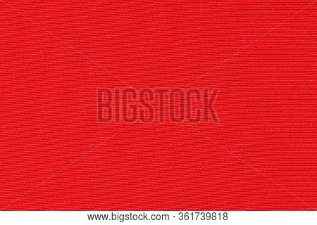 Red, Scarlet Background. Red, Scarlet Synthetic Fabric Texture, Background. Red, Scarlet Fabric.
