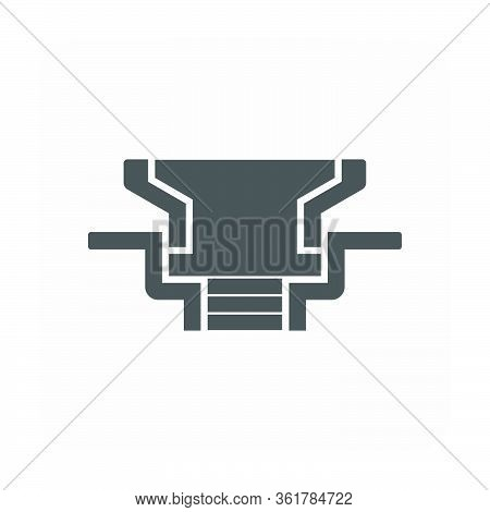 Floor Drain And Drainage Equipment Icon On White.