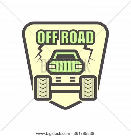 Off Road Truck Vector Icon Design On White Background.