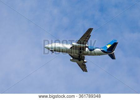 Calgary, Canada - June 30, 2014: Canadian North Airlines  Boeing 737-200 Takes Off From Calgary Inte