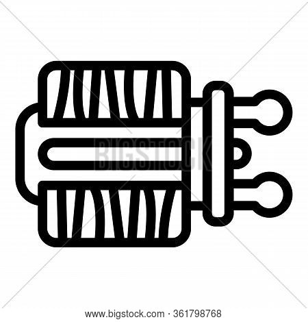 Rod Reel Icon. Outline Rod Reel Vector Icon For Web Design Isolated On White Background