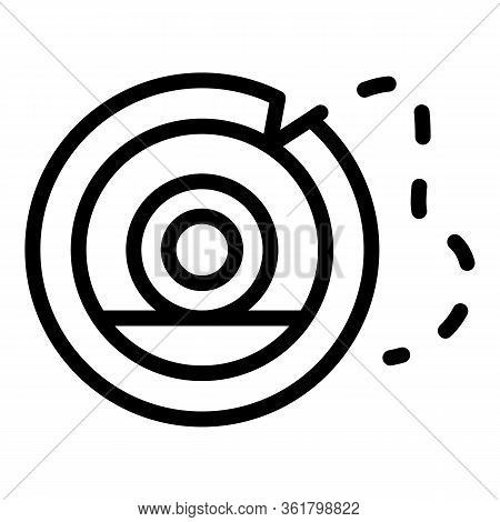 Fly Fish Reel Spool Icon. Outline Fly Fish Reel Spool Vector Icon For Web Design Isolated On White B