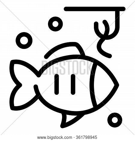 Catch Fish Lure Icon. Outline Catch Fish Lure Vector Icon For Web Design Isolated On White Backgroun
