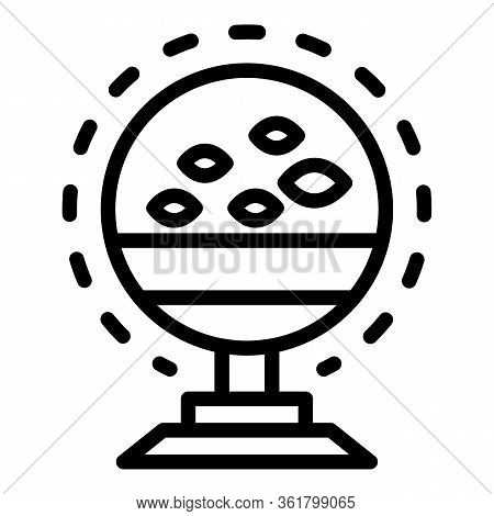 Fish Echo Sounder Icon. Outline Fish Echo Sounder Vector Icon For Web Design Isolated On White Backg