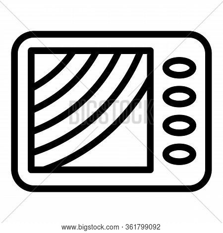 Digital Fish Finder Icon. Outline Digital Fish Finder Vector Icon For Web Design Isolated On White B