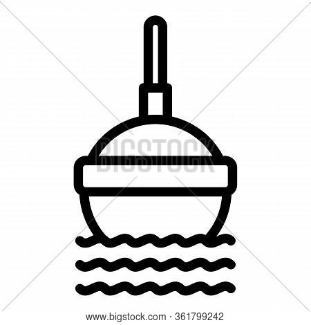 Fishing Float Lure Icon. Outline Fishing Float Lure Vector Icon For Web Design Isolated On White Bac