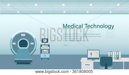 Medical Banner With Hospital Facilities Concept Vector Illustration
