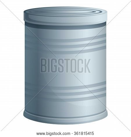 Survival Tin Can Icon. Cartoon Of Survival Tin Can Vector Icon For Web Design Isolated On White Back