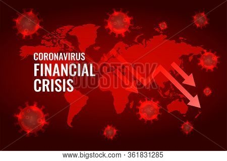 Covid19 Coronavirus Global Economy Downfall Arrow Background