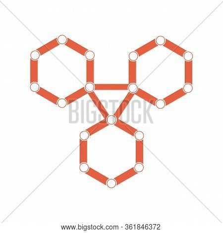 Vector Molecule With 3d Paper Label, Integrated Hexagon Background. Blank Space For Content, Busines