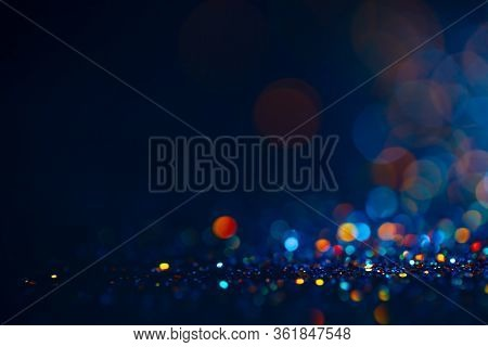 Festive Twinkle Glitters Background, Abstract Sparkle Backdrop With Circles, Modern Design Overlay W