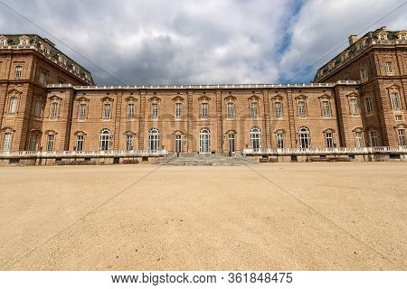 Turin, Italy - Apr 4, 2015: Reggia Di Venaria Reale 1658-1679, Ancient Palace, Residences Of The Roy