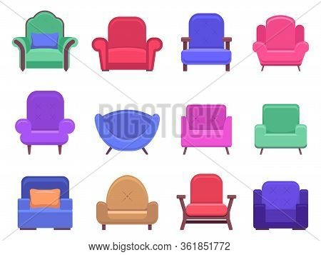Armchair Furniture. Armchair Sofa, Apartment Interior Comfortable Furniture, Modern Cozy Domestic Ch