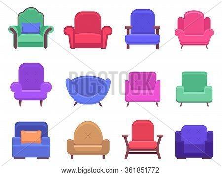 Armchair Furniture. Armchair Sofa, Apartment Interior Comfortable Furniture, Modern Cozy Domestic Ch