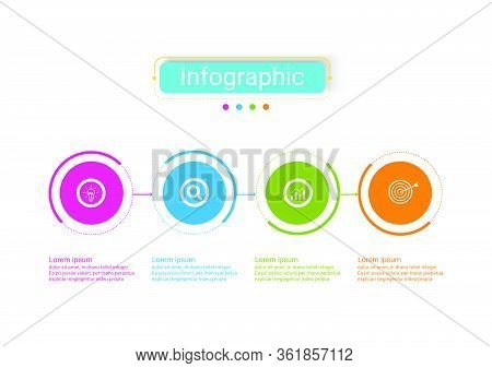 The Vector Design Business Infographic Uses Concepts Creative Circle Template Infographic With 4 Opt