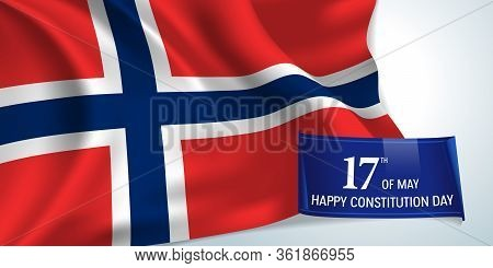 Norway Constitution Day Greeting Card, Banner Vector Illustration. Norwegian National Holiday 17th O