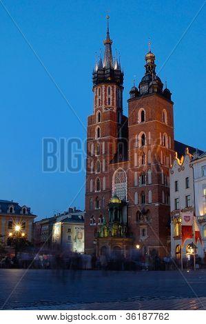 Mariacki Church At Evening