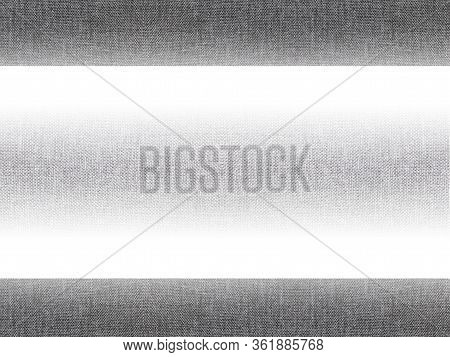 Minimalist Gray And White Background Frame. Empty Abstract Grey Cloth Pattern With Simple Gradient,