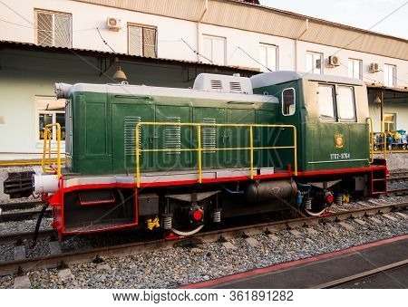 Voronezh, Russia - August 29, 2019: Diesel Locomotive Tgk-2-1, Retro-exhibition Of Railway Equipment