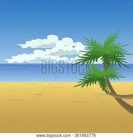 Beach In Summer With Sunny Weather