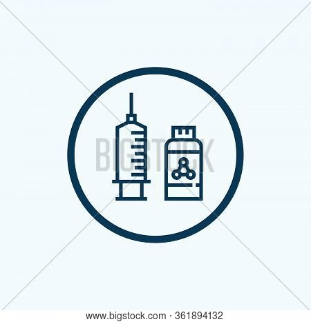Syringe Icon Isolated On White Background From Body Parts Collection. Syringe Icon Trendy And Modern