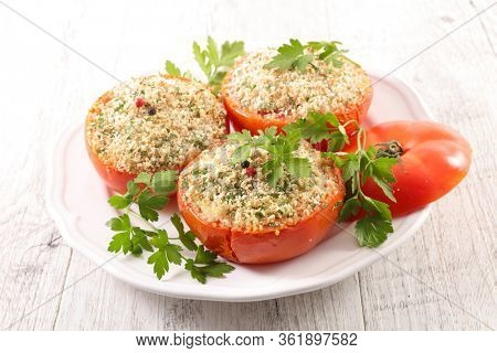 provencal tomato, baked tomato with crumbs
